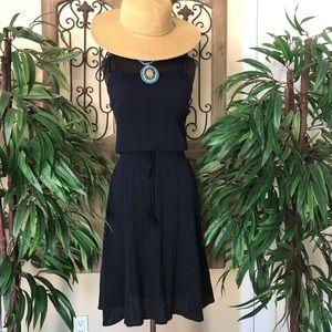 Summer navy blue dress